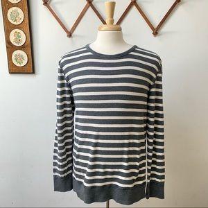 J Crew Striped Knit Sweater Shirt